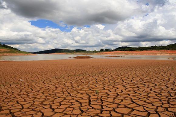 Sistema Cantareira durante a crise hídrica de SP