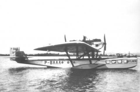 O Dornier Wal P-BAAA Atlantico foi a primeira aeronave comercial matriculada no Brasil