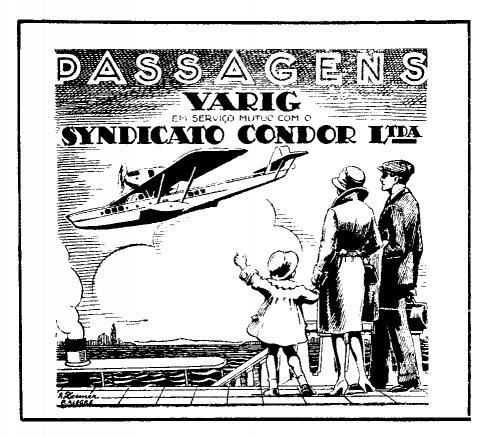 Anúncio denunciando a operação vinculada Varig-Syndicato Condor, final da década de 20