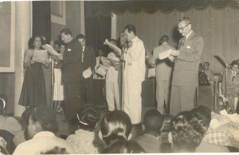 Carlos Carrier, Paulo Gracindo e Ari Barroso
