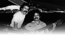 """Marco Mazzola e Belchior durante as gravações de """"Alucinação"""""""