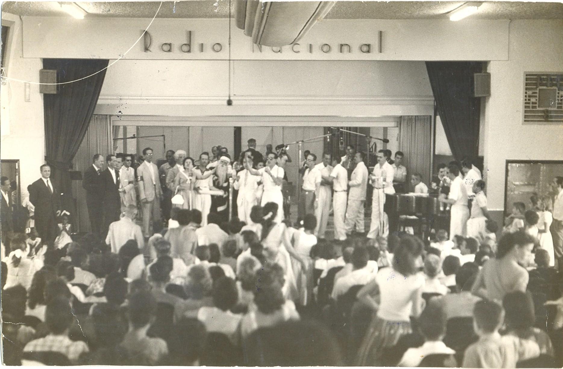 Auditório da Rádio Nacional nos anos 50