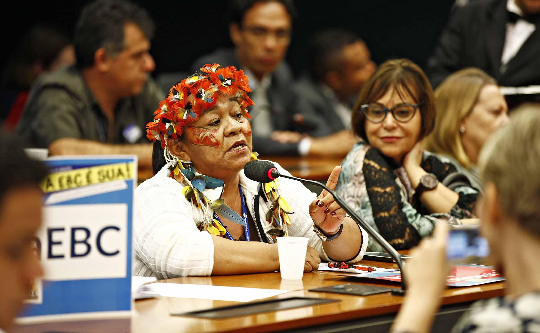 Para Matsa Yawanawá, conselheira, acabar com EBC é silenciar povos indígenas